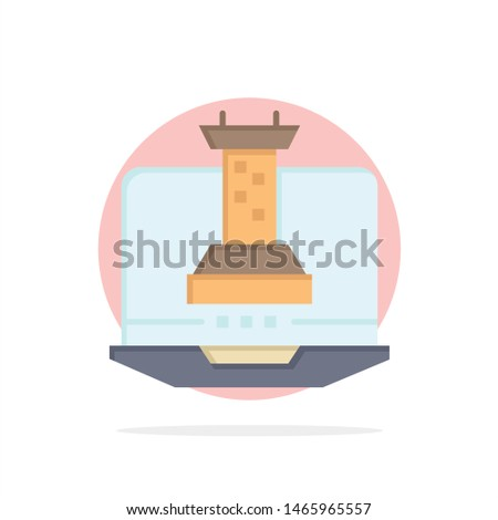 Digital, Strategy, Digital Strategy, Marketing Abstract Circle Background Flat color Icon. Vector Icon Template background