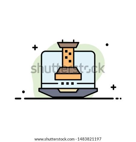 Digital, Strategy, Digital Strategy, Marketing Business Logo Template. Flat Color