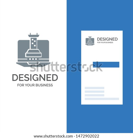 Digital, Strategy, Digital Strategy, Marketing Grey Logo Design and Business Card Template