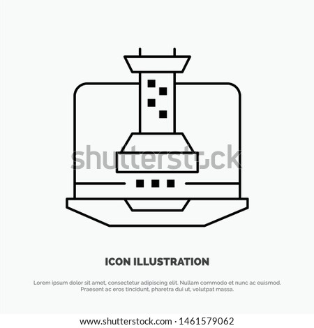 Digital, Strategy, Digital Strategy, Marketing Line Icon Vector. Vector Icon Template background