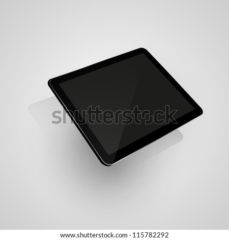 Digital tablet. Isolated on white. Vector illustration eps10