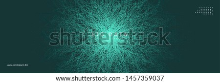 Digital technology abstract background. Artificial intelligence, deep learning and big data concept. Tech visual for interface template. Partical digital technology abstract.