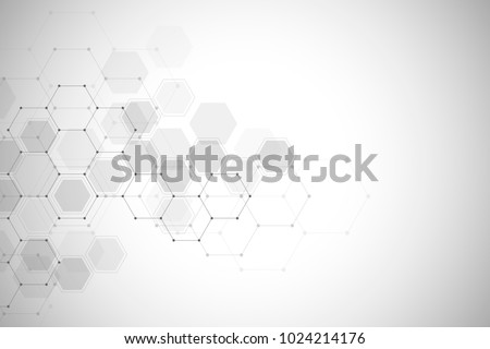 Digital technology background. Geometric abstract background with hexagons. Vector design for science, technology or medicine