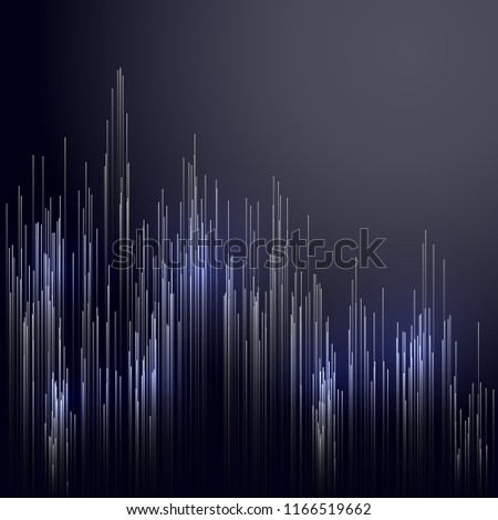 Digital technology concept abstract background. Dig data visualization. Information technology background. Vector illustration