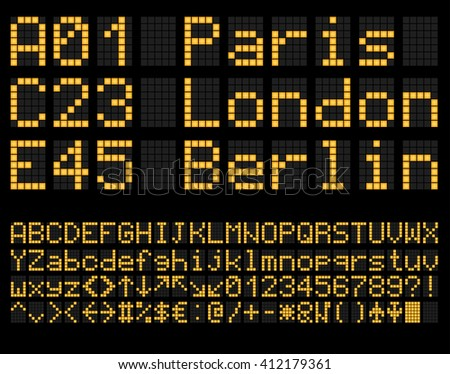 digital terminal table led font....