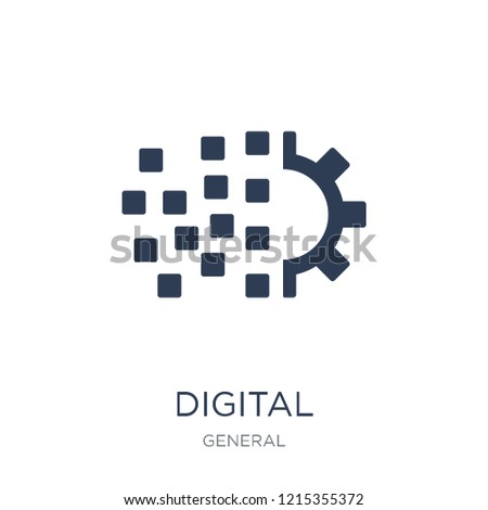 digital transformation icon. Trendy flat vector digital transformation icon on white background from general collection, vector illustration can be use for web and mobile, eps10