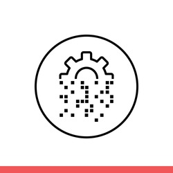 Digital transformation vector icon, data symbol. Simple, flat design for web or mobile app