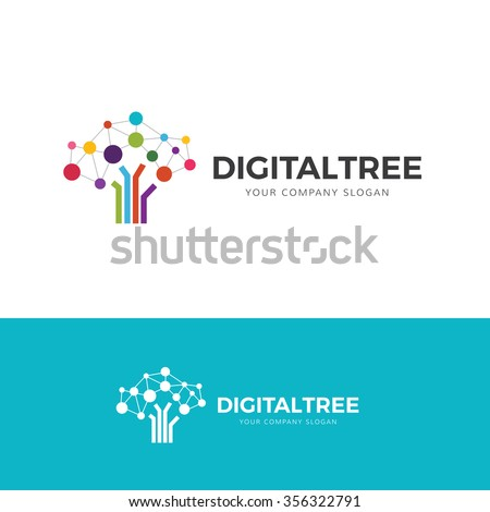 digital tree logo tree logo