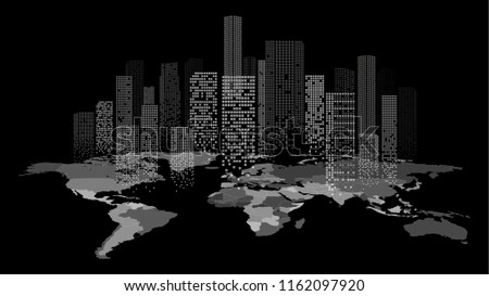 Abstract City Landscape Vector - Download Free Vector Art