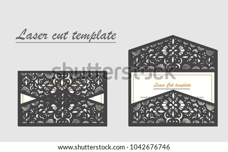 Shutterstock Digital vector file for laser cutting. The envelope is an invitation card.