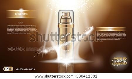 digital vector golden glass
