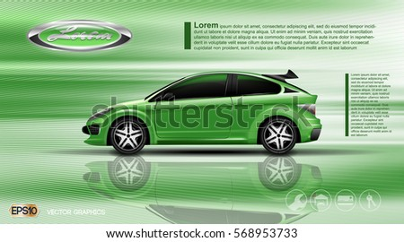 digital vector green model