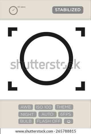 digital viewfinder icon with