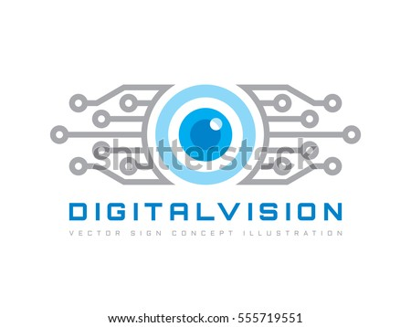digital vision   vector logo