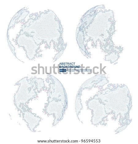 Digital world map with copy space vector.