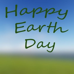 Digitally generated Happy Earth Day on blur back vector