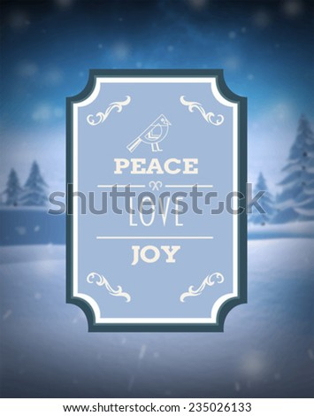 digitally generated peace love