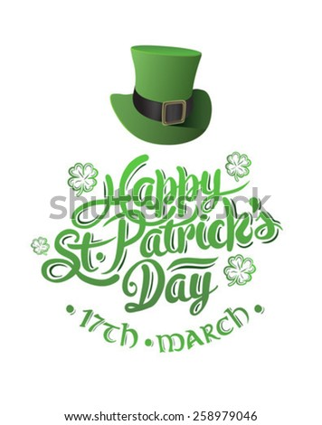 Digitally generated St patricks day greeting vector