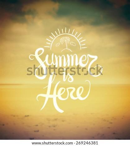 digitally generated summer is