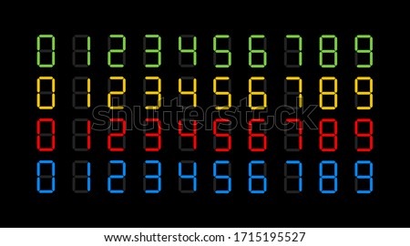 digits electronic dial set