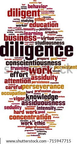 diligence word cloud concept