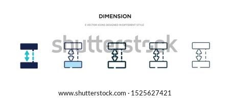 dimension icon in different style vector illustration. two colored and black dimension vector icons designed in filled, outline, line and stroke style can be used for web, mobile, ui