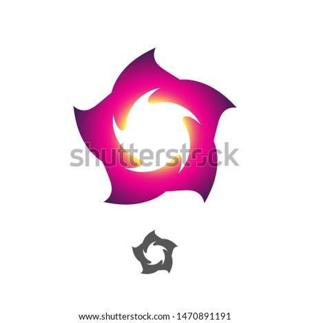 Dimension portal vortex, twirl, flower