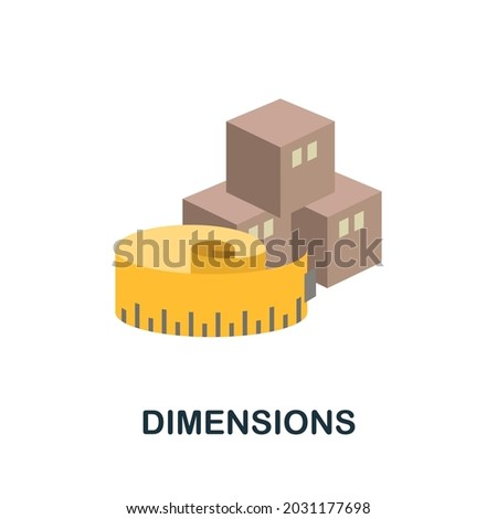 dimensions flat icon simple