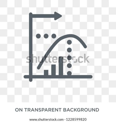 Diminishing returns icon. Diminishing returns design concept from Diminishing returns collection. Simple element vector illustration on transparent background.
