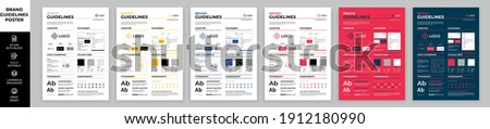 DIN A3 Brand Guidelines Poster Layout Set, Brand Manual Templates, Simple style and modern layout Brand Identity, Brand Guidelines Сток-фото ©