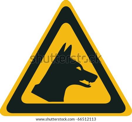 Dingo danger, vector warning sign