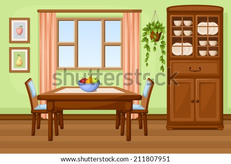 dining room interior with table