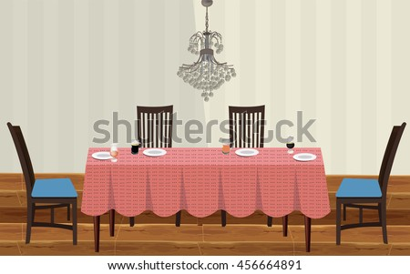 Free Dining Room Vector Design - Download Free Vector Art, Stock ...