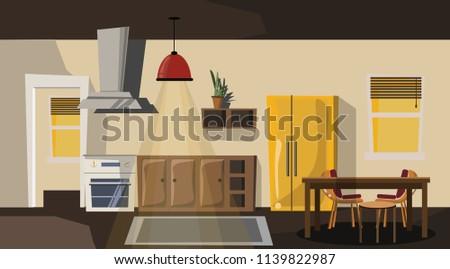 dining room vector illustration  #1139822987