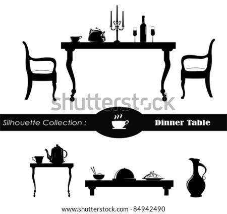 Dining room Vector Illustration