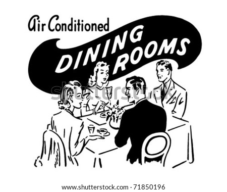 Dining Rooms - Retro Ad Art Banner
