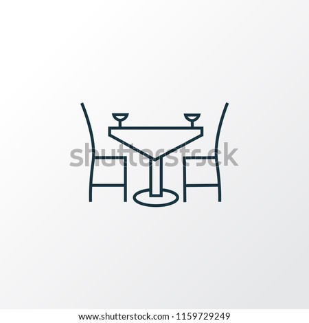 Dining table icon line symbol. Premium quality isolated restaurant element in trendy style.