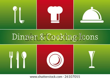Dinner & Cooking Restaurant Vector - a set of vector Restaurant Icons