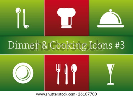 Dinner & Cooking Restaurant Vector Icon Set #3 - a set of vector Restaurant Icons