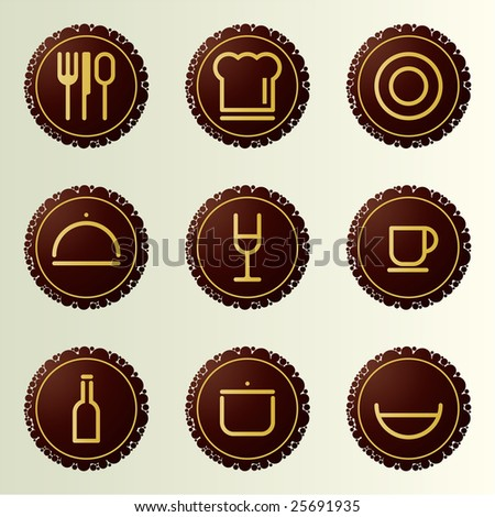 Dinner & Cooking Vector Icon Set