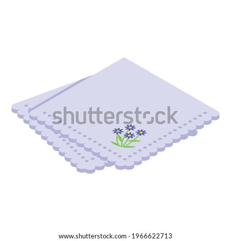 Dinner handkerchief icon. Isometric of Dinner handkerchief vector icon for web design isolated on white background