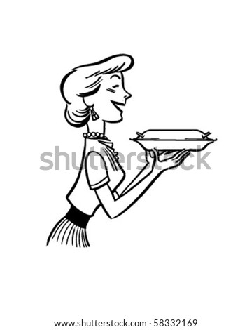 Dinner Is Served - Retro Clip Art