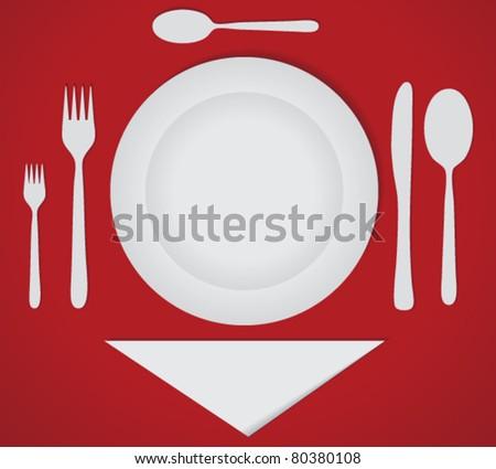 Dinner Set on Luxury Cover