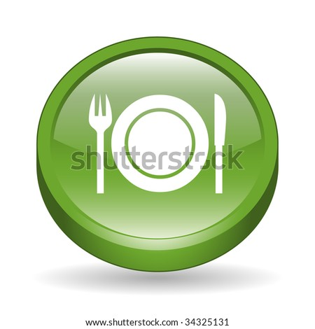 Dinner Sign Dinner Sign 3d Icon Button