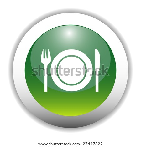 Dinner Sign Dinner Sign Icon Button