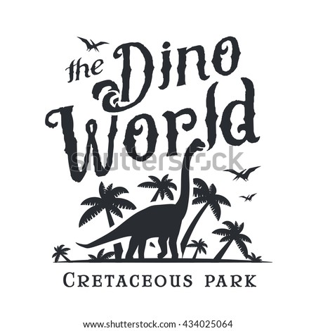 dino world logo template