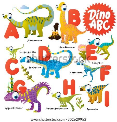 dinosaur abc  a to i
