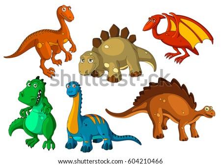 dinosaur animal cartoon icon