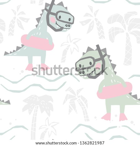 dinosaur baby with rubber ring