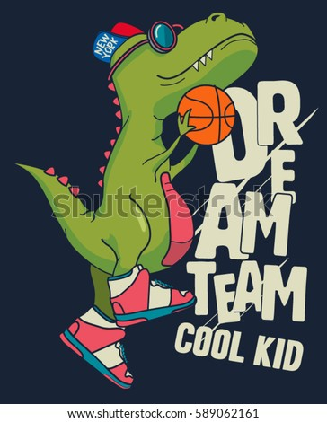 dinosaur  basketball player